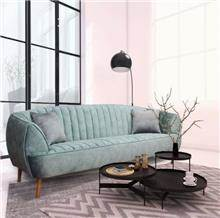 ספה בצבע תכלת-כחול מקטיפה - יבוא 4 יו