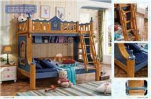 מיטת קומותיים מעוצבת לבנים
