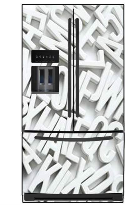 תמונת מגנט אותיות למקרר