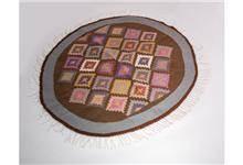 שטיח קילים מעויינים עגול