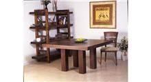 שולחן מרובע עץ בוק מלא
