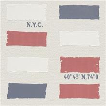 טפט מלבנים כחול אדום לבן - Blinds-US