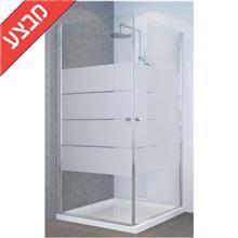 מקלחון פינתי 2 דלתות skl14 פסים מסדרת טל - א.ישראלי