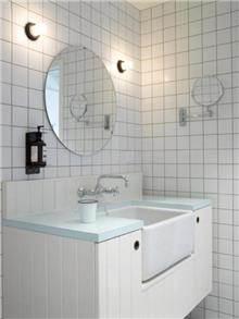 """מראה עגולה מרחפת לחדר האמבטיה 6 מ""""מ - א.ישראלי"""