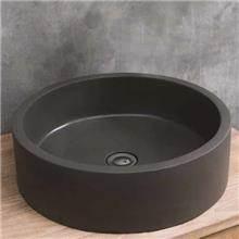 כיור בטון מעוצב דגם סול עגול אפור כהה - א.ישראלי