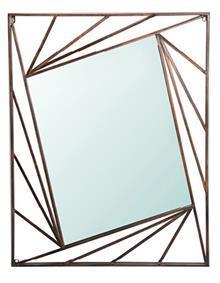 מראה מלבן בתוך מלבן עם מסגרת ברונזה 100*75 - א.ישראלי