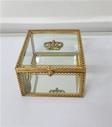 קופסת תכשיטים זהב מלכותית - רקפת ספיר Home Design