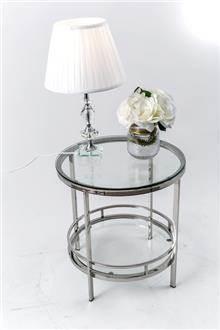 שולחן צד סופיה שקוף - רקפת ספיר R.H.S