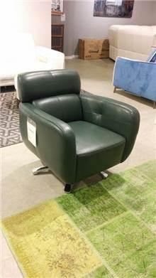 כורסא ירוקה מעור - רוזטו רהיטים - Rossetto
