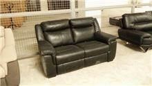 ספה זוגית יוקרתית בצבע שחור - רוזטו עודפים