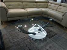 שולחן סלון זכוכית עגול
