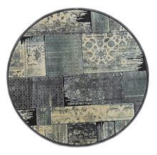 שטיח עגול מלבנים דהוי