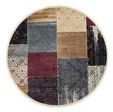 שטיח עגול מרובעים צבעוניים