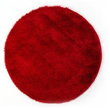שטיח שאגי עגול  ברוז' אדום