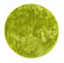 שטיח שאגי עגול ברוז' ירוק