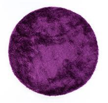 שטיח שאגי עגול ברוז' סגול
