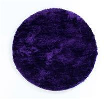 שטיח שאגי עגול ברוז' סגול כהה