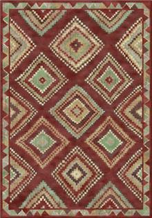 שטיח גאומטרי בורדו