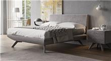 מיטת קפיצים אפורה