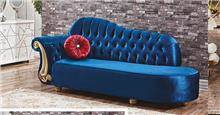ספה מעוצבת כחולה