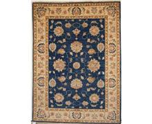 שטיח כחול שמנת