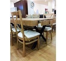 שולחן אוכל נפתח מעץ