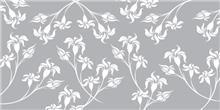 זכוכית מודפסת פרחים אפורים