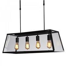 מנורת תלייה מלבנית שקופה - אופק תאורה חוץ ופנים