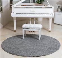 שטיח שאגי עגול אפור בהיר