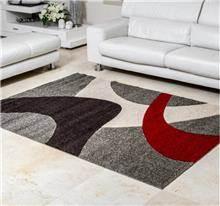 שטיח גלים אפור אדום