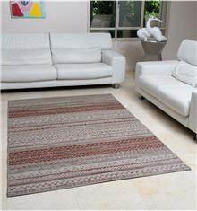 שטיח אתני בז' אדום