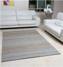 שטיח אתני צהוב כחול