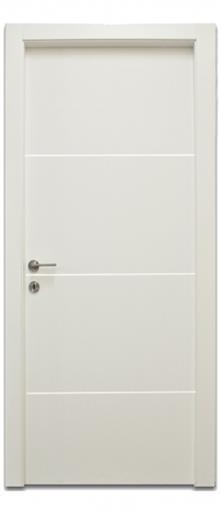 דלת 3 פסי ניקל רוחב  - דלתות אלון