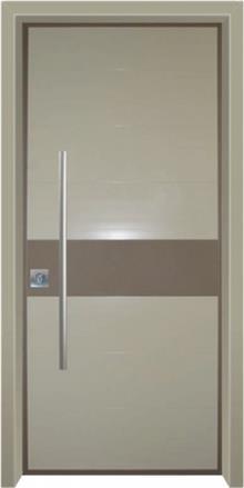 דלת כניסה מודרנית פס חום - דלתות אלון