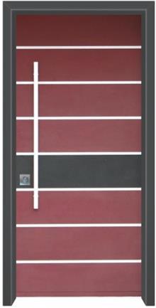 דלת כניסה מודרנית בורדו - דלתות אלון