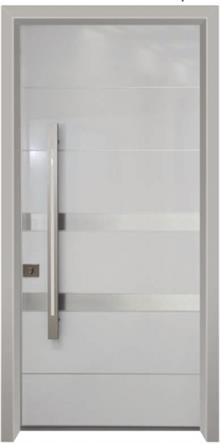 דלת כניסה הייטק אפורה - דלתות אלון