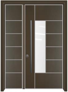 דלת כניסה הייטק חום - דלתות אלון