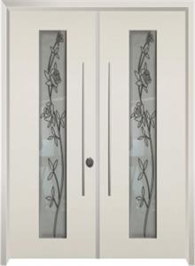 דלת כניסה ויטראז קרם - דלתות אלון