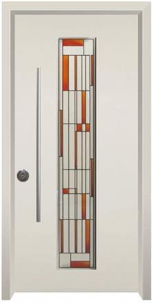 דלת כניסה ויטראז שמנת - דלתות אלון