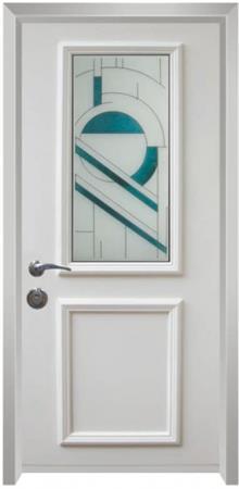דלת כניסה ויטראז טורקיז - דלתות אלון