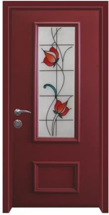 דלת כניסה ויטראז בורדו - דלתות אלון