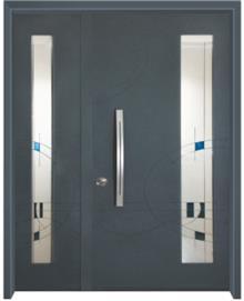 דלת כניסה ויטראז כחול - דלתות אלון