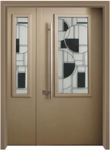 דלת כניסה ויטראז חום - דלתות אלון