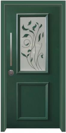 דלת כניסה ויטראז ירוק - דלתות אלון