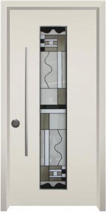 דלת כניסה ויטראז גאומטרית - דלתות אלון