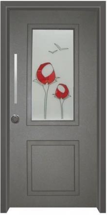 דלת כניסה ויטראז אפור - דלתות אלון