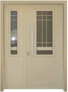 דלת כניסה פנורמי שמנת - דלתות אלון