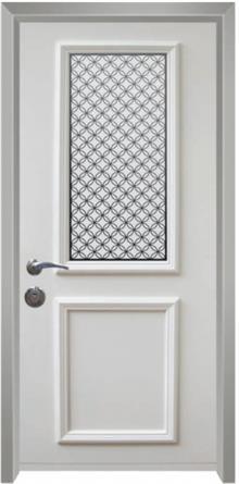 דלת כניסה פנורמי לבן - דלתות אלון