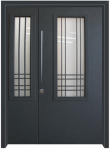 דלת כניסה נפחות כחול כהה - דלתות אלון