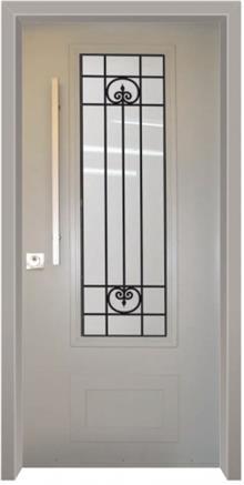 דלת כניסה נפחות קרם - דלתות אלון
